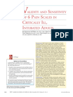 Pain scale assesment