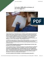 «Le lien très fort entre difficulté en lecture et difficulté sociale s'est aggravé ».pdf