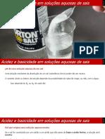 11ano Q 2 1 8 Acidezebasicidadeemsolucoesaquosasdesais