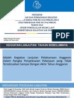 Prosedur Pengajuan Dan Pembayaran Kegiatan Lanjutan APBN Sesuai PMK No. 243.Pmk05.2015