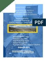 Estimación de Riesgo de Desastres en El Cerro Picota
