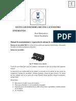 Manual de Mantenumuento y Reparación de Sistema de Encendido