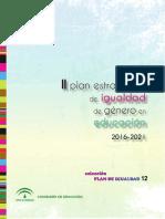 II Plan Igualdad Género en Educación 2016-2021-Andalucía