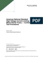 C37.53.1-1989 - American National Standard High-Voltage Current-Limiting Motor-Starter Fuses -- Conference Test Procedures.pdf