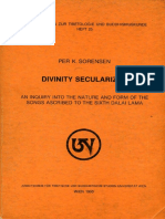(Wiener Studien Zur Tibetologie Und Buddhismuskunde) Per K. Sorensen-Divinity Secularized_ an Inquiry Into the Nature and Form of the Songs Ascribed to the Sixth Dalai Lama-Arbeitskreis Für Tibetische
