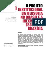 O projeto institucional da filosofia no Brasil e a inexistente Escola de Brasília