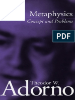 Metaphysics. Concept and problems.