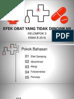 Ppt Kimi Farmasi Kelompok 3 Kimia b 2016
