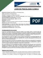 00 Especialización en Psicología Clínica