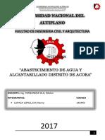 INFORME SOBRE ABASTECIMIENTO DE AGUAS EN EL DISTRITO DE ACORA.docx