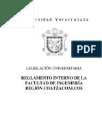 Reglamento Interno de La Facultad de Ingenieria Region Coatzacoalcos