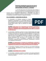 Acta de Aprobacion de Convencion Colectiva 2015