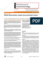 Clinical Characteristics of Peptic Ulcer Perforation in Korea