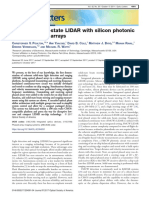 Coherent solid-state LIDAR with silicon photonic optical phased arrays