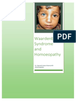 Waardenburg Syndrome and Homoeopathy
