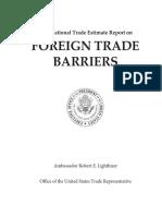 2018 National Trade Estimate Report