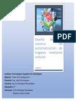 Diseño de Un Sistema de Automatización de Hogares Mediante Arduino