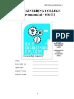 EM-I Lab Manual for IV EEE R2013