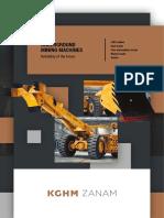 KGHM ZANAMs Undergound Mining Machine Catalogue