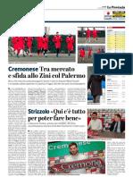 La Provincia Di Cremona 24-01-2019 - Cremonese