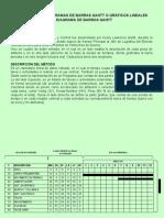 Metodo de Diagrama Barras Gantt