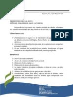 Caracteristicas de La Ptar