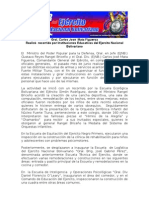 Recorrido por Instituciones Educativas del Ejercito Nacional Bolivariano