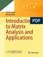 Introduction to Matrix Analysis - Hiai, Petz