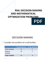 Managerial Decision Making and Mathematical Optimization Problems_15Jan2019