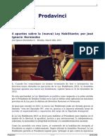 4 Apuntes Sobre La Nueva Ley Habilitante 2015