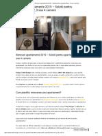 Renovari Apartamente 2019 - Solutii Pentru Apartamente 2, 3 Sau 4 Camere
