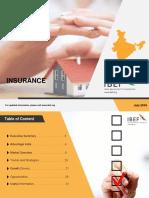 Insurance Report IBEF July 2018