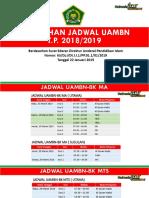 Perubahan Jadwal UAMBN TP 2018-2019
