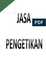JASA PENGETIKAN