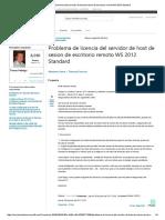 Problema de Licencia Del Servidor de Host de Sesion de Escritorio Remoto WS 2012 Standard