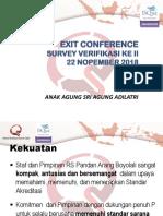 Exit Conference Survey verifikasi.pptx