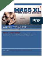 Mass XL Workout Plan by Guru Mann