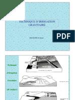 Irrigation gravitaire
