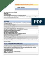 Kredx Documentation List Updated