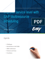 Improving Service Level With Sap Multiresource Scheduling