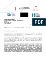 2019.01.24 - Lettre conjointe d'ONG au journal Le Soir - Suppléments de Xinhua - FINAL