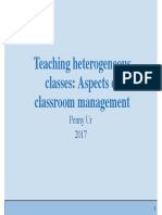 Teaching Heterogeneous Classes - Aspects of Classroom Management Powerpoint by Prof. Penny Ur