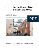 Managing the Supply Base Reader - Third Edition