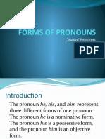 Forms of Pronouns