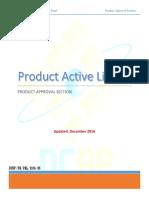 Active Product List DEC 2016