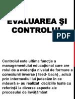 Evaluarea Si Controlul