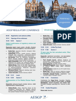 AESGP Regulatory Conference Amsterdam 2019