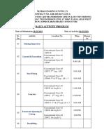Activity Program for 2-01-19