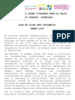 Plan Lucha Anti Epidemica Santo Domingo Ch Enero 2019