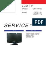 Samsung LCD-TV Service Manual (Chassis GBU23HEU . Model LE23R71B + LE23R71W)